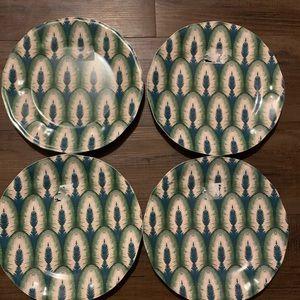Opalhouse Peacock Feather Salad Plates Set of 4